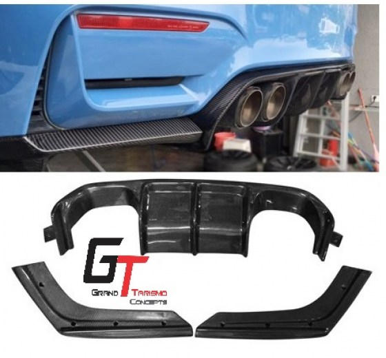 BMW F80 M3 F82 M4 V-Style Carbon Fibre Rear Diffuser 3pc.pd7