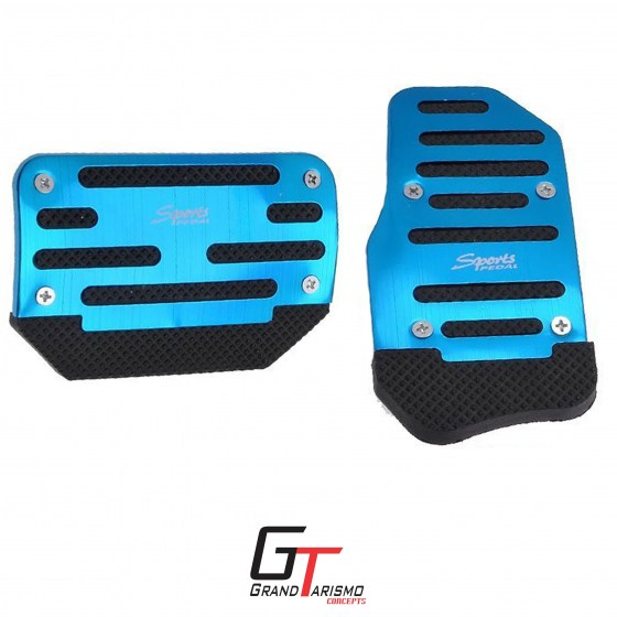 Sports pedals auto blue