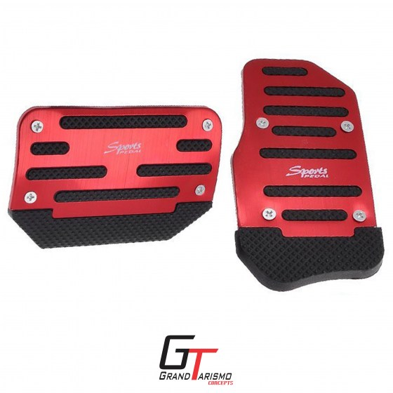 Sports pedals auto red